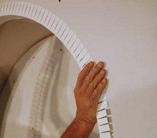 Как сделать уголок для арки