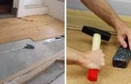 Покрытие бетонного пола ламинатом и плиткой
