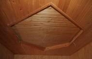 Как отделать потолок деревом