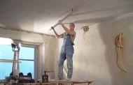 Штукатурка и шпаклевка потолка под покраску