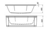 Ванна акриловая без гидромассажа Kolpa-San Elektra 170x75 Basis
