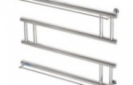 Стальной полотенцесушитель с полочкой Paladii Вираж 700x530 ПВ003